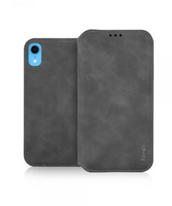 FONEX BOOK VELVET IPHONE XR grey