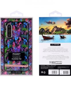 SO SEVEN PUCKET TROPICAL BLACK BUTTERFLY HUAWEI P30 backcover