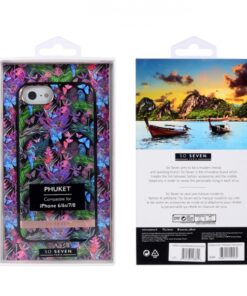 SO SEVEN PUCKET TROPICAL BLACK BUTTERFLY IPHONE 6 7 8 SE (2020) backcover
