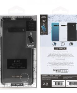 SO SEVEN RUGGED CASE PURE SAMSUNG S10 PLUS black backcover